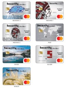 7 debit card images to choose from